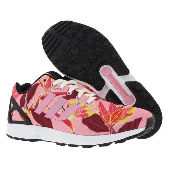 newest c74a5 3f41b Adidas | 10.5 Zx Flux Floral Print Men's Shoe Pink